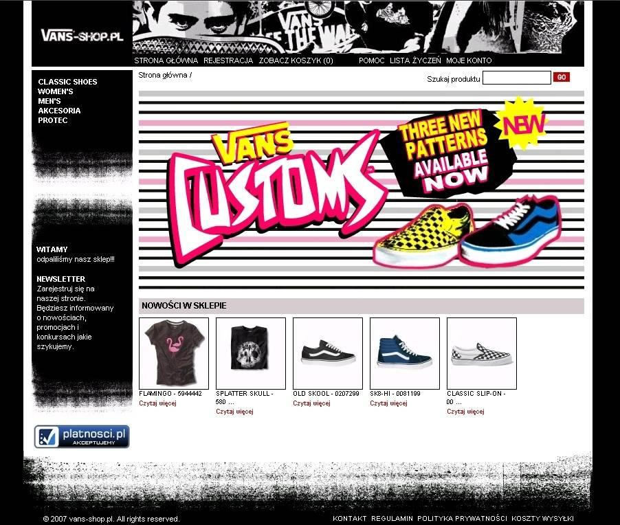 vans shop online pl
