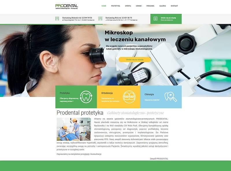 Strona internetowa prodental